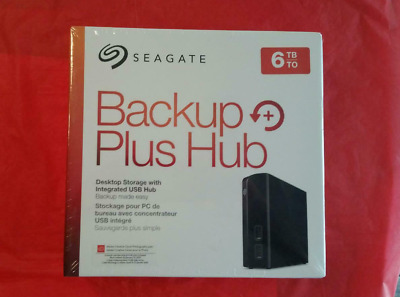 ✅ 6TB Seagate Backup Plus Hub (Windows or MAC) Black  6.0TB Ext STEL6000100