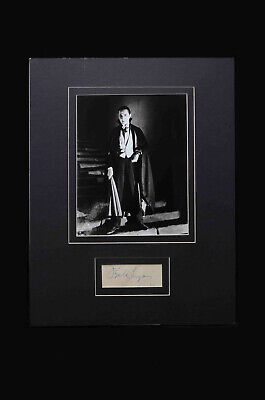 Karloff, Carradine, Lugosi, Chaney, Cushing, & Psycho celebrity autographs! WOW!