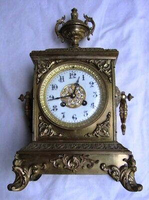 An Attractive 19Th Century, Japy Freres, Ormolu Mantel Clock.