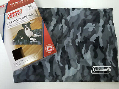"Coleman Pet Cooling Gel Mat Green Camo 12"" x 16"" Up to 25 lb Dog"