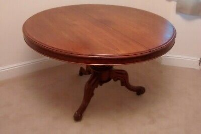 Victorian, antique, mahogany, round, tilt top table, dining table, tri pod