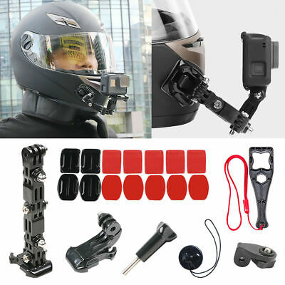 20pcs Adhesive Helmet Front Chin Mount Black Accessories For Gopro Hero 7 O6N9F