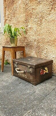 Vintage Leather Box Carry Case Display Medical Case Prop Theatre Steampunk