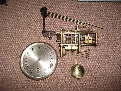 Westminster Chiming Movement,Pendulum & Hands & Gongs  Early 1930'S