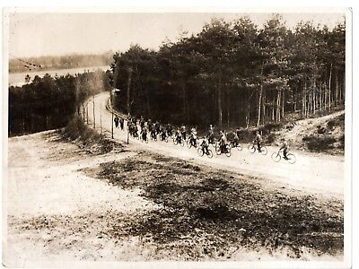 World War 1, German Cycle Patrol in Flanders, Snipers Behind Firing Line, 1915
