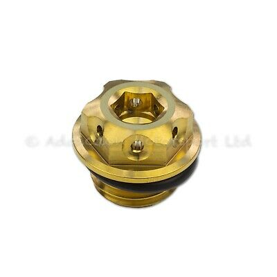 Gold Titanium Engine Oil Filler Cap Plug for Ducati Panigale 1199, 1299, V4