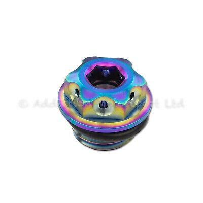 Rainbow Titanium Engine Oil Filler Cap Plug for Ducati Panigale 1199, 1299, V4