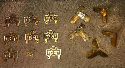 Lot Of Vintage Chinese solid brass hangers Asian mount decor Hangers & Corners