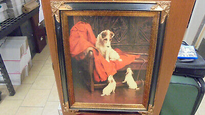 """Wire Fox Terrier with Puppies"" Arthur Wardle Print (AE)"