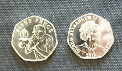 2019 50pence ISLE OF MAN coin ** UNC ** - ICC Cricket World Cup TYPE-4