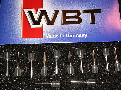 WBT-0451 - 12x WBT Pure Silver/Platinum 2.5 Sq.mm 14AWG Insulated Crimp Sleeves