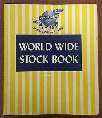 Minkus World Wide Stock Book w/ 900+ Stamps