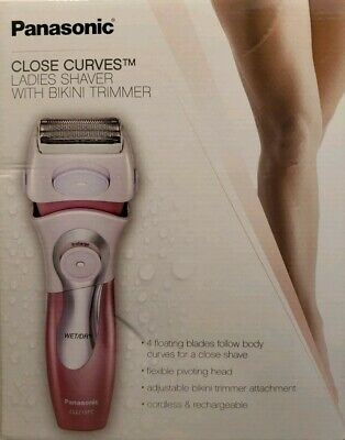 "Panasonic Close Curves Ladies Shaver With Bikini Trimmer ""Open Box"""