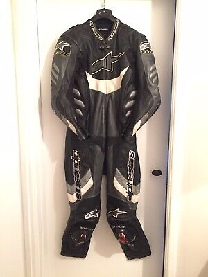 Alpinestars One Piece Race Leathers, Size Euro 50