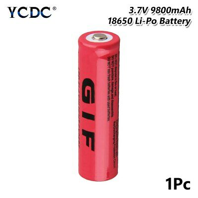 Pointed Top 18650 GIF Battery 3.7V 9800mAh Lithium Charging Rechargeable