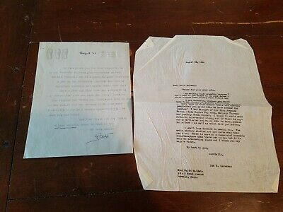 Faith Baldwin Letters To & From Signed Typed Autograph 1954 Cool Content Author!