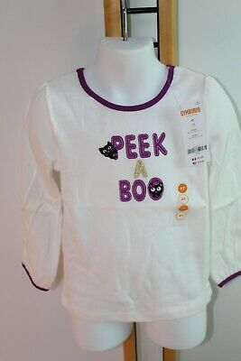 Gymboree Purrfectly Fabulous Girls Size 2T NWT NEW Shirt Top Black Cat Halloween