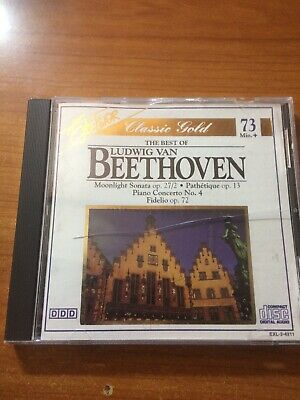 The Best Of Ludwig Van Beethoven (CD) Excelsior, Classic Gold, 73+ min...box6