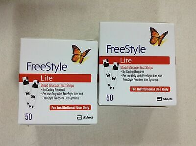 100 FREESTYLE LITE DIABETIC BLOOD GLUCOSE TEST STRIPS - 01/31/2021, Free Style
