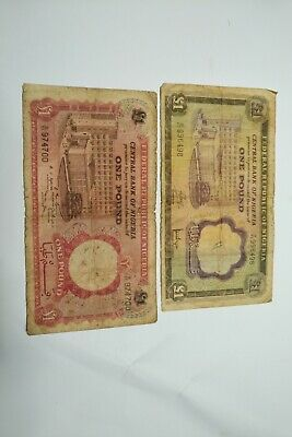 Nigeria Old Currency Two Pounds Notes 1960's Very Rare Central Bank of Nigeria