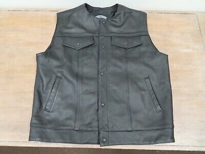 Legendary Product XL Tall Leather Motorcycle Vest
