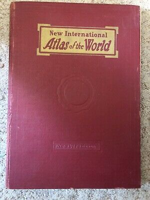 New International Atlas Of The World 1942 Census Edition Geographical Publishing