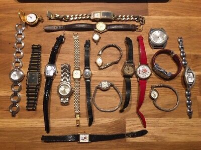 Watch Lot of 19 Analog Digital Mens Womens Watches some vintage