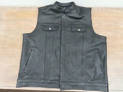 Crank & Stroker Knock Out #KO 2XL Leather Motorcycle Vest