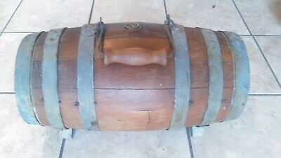 CIVIL WAR Antique Ambulance KEG Oak Wood Wooden Barrel Whiskey Water Carrier
