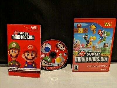 New Super Mario Bros. Wii - Nintendo Wii, 2009 - Manual Included - Free Shipping