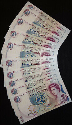 2013 Isle of Man £5 Couch --->> UNC/MINT <<--- (9) Serial M550102-10