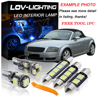 Error Free White Led Interior Bulb Light Package Kit For AUDI A4 B6 Limo 2004 Y1