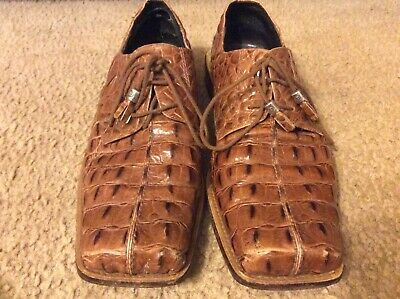 fe05ded214b7f Giorgio Brutini Private Collection Embossed Alligator Brown Dress Shoes Mens  11M