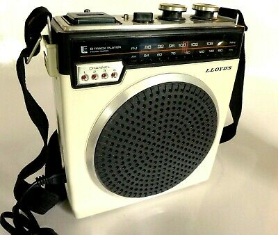 1970 Fully Tested Lloyds Mod V150 Portable 8-Track Player Am/Fm Radio. All Orig.