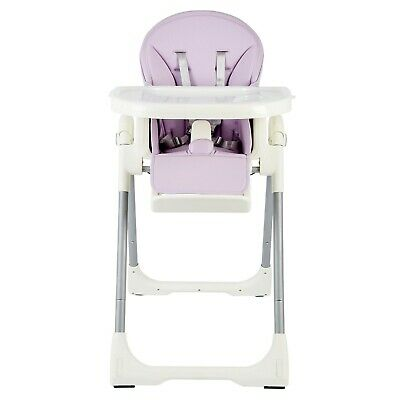The Living Store Purple Portable Adjustable Baby High Chair Feeding Dining 6-12m