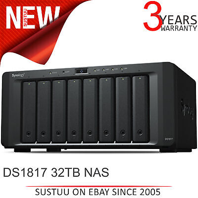 Synology DiskStation 8 Bay Desktop NAS│Storage Unit with 32TB WD RED PRO Drives