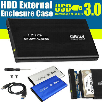 "External Hard Drive Mobile Enclosure SATA USB 3.0 Disk HDD Box 2.5"" Inch Case"
