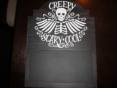 NEW Halloween Countdown Sign Chalkboard Chalk Wall Decoration MESSAGE BOARD