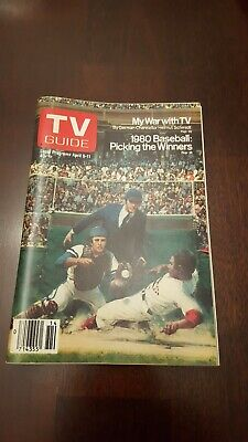 TV Guide April 5-11 1980 1980 Baseball. L.A. edition. Never used.