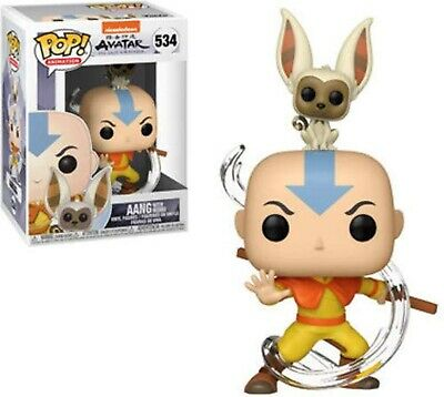 Funko POP! Animation: Avatar Aang with Momo Vinyl Action Figure Collectible Toy