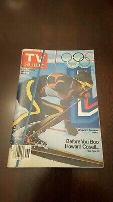 TV Guide February 9 1980 Winter Olympics Howard Cosell. L.A. edition. Never used