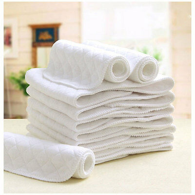 Reusable Washable Cloth Diaper Nappy Insert Liner Cotton 6 Layers Diapers