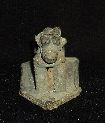 Antique Hindu Traditional Indian Ritual Brass Standing Nandi Rare Collectible #3