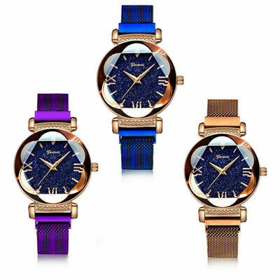 Luxury Starry Sky Watch Magnet Straps Fashion Watches Womens Stainless Steel