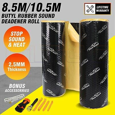 2㎡/4㎡ Car Butyl Rubber Sound Deadener Sound Proofing Self Adhesive 2.6mm thick