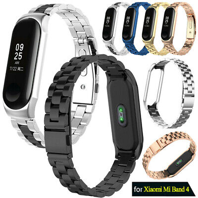 For Xiaomi Mi Band 4/3 Metal Wrist Bracelet Stainless Steel Replacement Strap