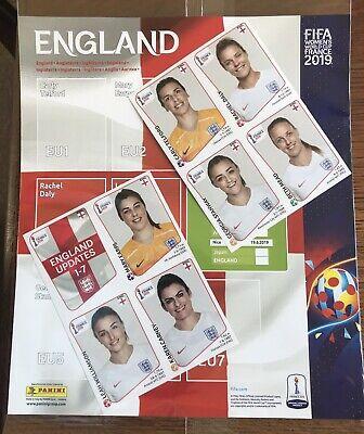 Panini Women's FIFA WORLD CUP 2019 ENGLAND UPDATES EXTRA & PAGE SET FRANCE