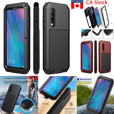 Gorilla Glass Metal Heavy Duty Aluminum Shockproof Case Cover For Huawei P30 Pro