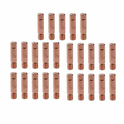1.0mm 1mm Mig Welding Welder Round Contact Tips for MB15 Euro Torches 25pk