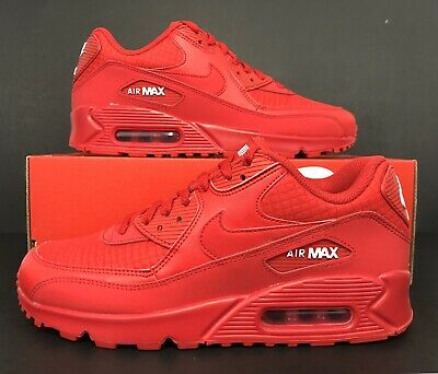 30ad1d2d Nike Air Max 90 Essential Running University Red White AJ1285-602 Men's  Size 8